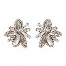 Earrings white crystals K1011B