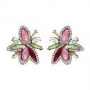 Earrings fuchsia crystals K1011R