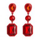 groothandel Sieraden & horloges: Oorbellen rode kristallen K976CZE
