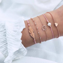 grossiste Bijoux & Montres: Ensemble de bracelets 5 en 1 avec perles en ...