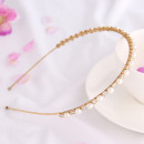 Großhandel Haarschmuck: Haarband Goldperlen und Kristalle O162