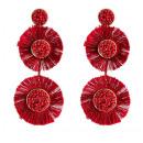 Earrings maroon claret K977BOR