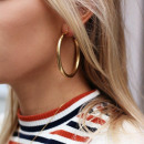 Earrings with gold circles K997Z