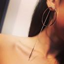 wholesale Earrings: Earrings hanging gold circles K996