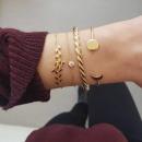 wholesale Bracelets: Set of 4-in-1 bracelets with golden B24 crystal ...