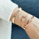Set of 4-in-1 golden crystal B250 bracelets