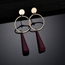 Hanging earrings maroon K968CZE