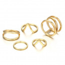 wholesale Rings: A set of 5 PE47 gold rings