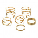 A set of 6 PE48 gold rings
