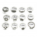 wholesale Rings: A set of 12 silver PE49 rings