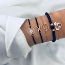 A set of 4in1 bracelets with an infinite gold hear