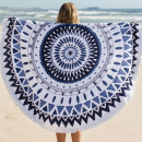wholesale Home & Living: BOHO MANDALA BLUE REC35WZ1 towel ROUND BATH ROUND
