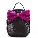 Children's backpack sequins black PL128CZ