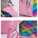 Children's backpack, pink PL128R sequins