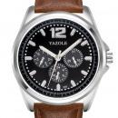 Großhandel Armbanduhren: Herrenuhr Yazole schwarzes Zifferblatt mit ...