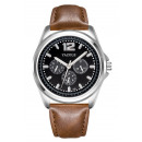 Men's watch yazole black dial with brown Z str