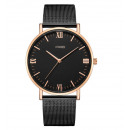 Women's watch classy rose gold on the black br