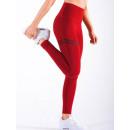 Großhandel Sportbekleidung: Sport Leggings Fitness Training Rot M LEG18