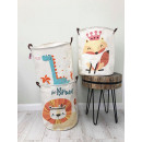 CONTAINER BASKET BAG FOR TOY OR LAUNCH Chmurki