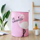 Container basket sack for toys or washing flamingo