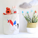 Container basket sack for toys or unicorn laundry