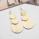 Earrings gold circles K1055