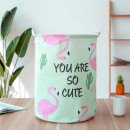 wholesale Organisers & Storage: Container basket sack for toys or washing flamingo