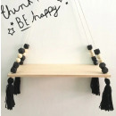 Wall shelf wooden swing for a child's room