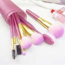 wholesale Make-up Accessoires: SET 9 BRUSHES MAKEUP BRUSHES Roses Glitter PZ17