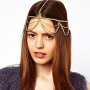 Tikka ornament headband Boho gold O186