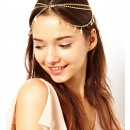 Tikka ornament band Boho gold leaves O188