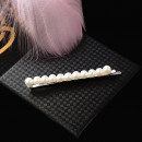 Hairpin with pearls silver pearl barrette