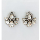 Jet earrings decorated with K1025