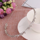 Hair band silver leaves with O164 crystals