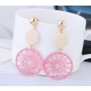 grossiste Bijoux & Montres: Boucles d'oreilles avec K1089 rose