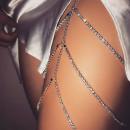 Harness bracelet crystal silver B28