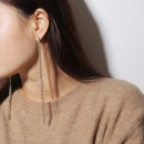Earrings hanging golden crystals K1059Z