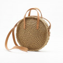 Wicker bag round beautiful T161