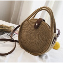 Wicker bag on shoulder T168BR beautiful