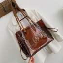 BAG Transparent brown love T173