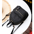 Mini wicker backpack black PL129CZ