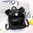 Women's backpack in sequins with black ...