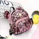 Children's backpack, pink PL128R sequins