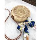 Wicker bag box with ribbon round beautiful