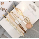Hairpins set of 4 pcs pearls diamonds SP42