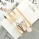 Hairpins set of 4 pcs pearls diamonds SP43