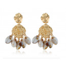 wholesale Earrings: Hanging earrings with golden shell K1111