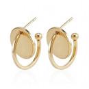 Golden earrings next to the ear K1080Z