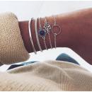 grossiste Bijoux & Montres: Lot de bracelets 5 en 1 argent B340