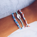 3in1 wrist bracelet braided shell B346